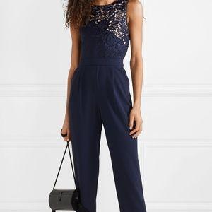 Alice Olivia Jeri guipure lace crepe jumpsuit NEW